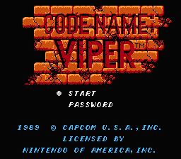Code Name : Viper