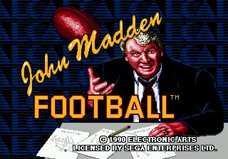John Madden Football : Pro Football