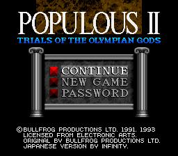 Populous II : Trials of the Olympian Gods