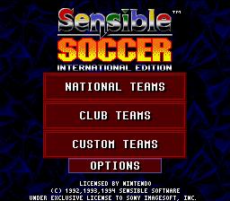 International Sensible Soccer : World Champions Li