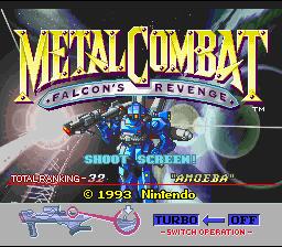 Metal Combat : Falcon's Revenge