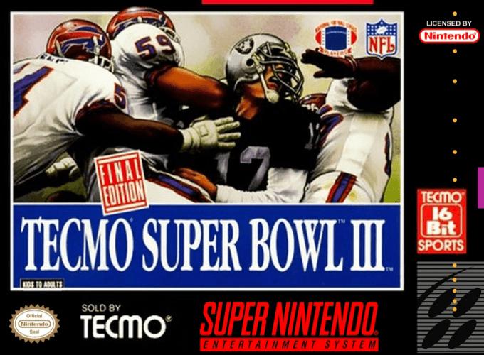 Tecmo Super Bowl III : Final Edition