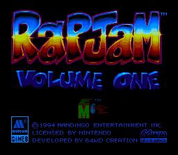 Rap Jam : Volume One