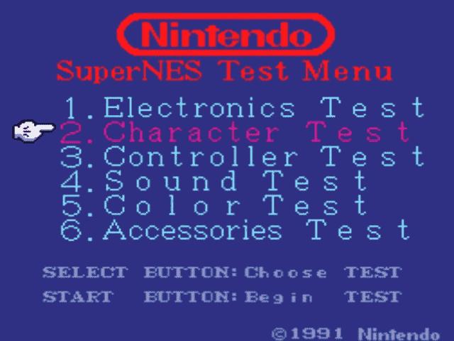 ZZZ:World Class Service Super Nintendo Tester