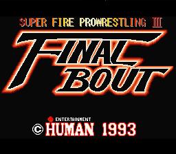 Super Fire Pro Wrestling III : Final Bout
