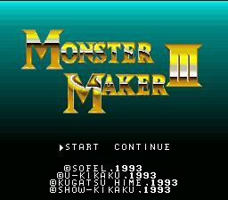 Monster Maker III : Hikari no Majutsushi